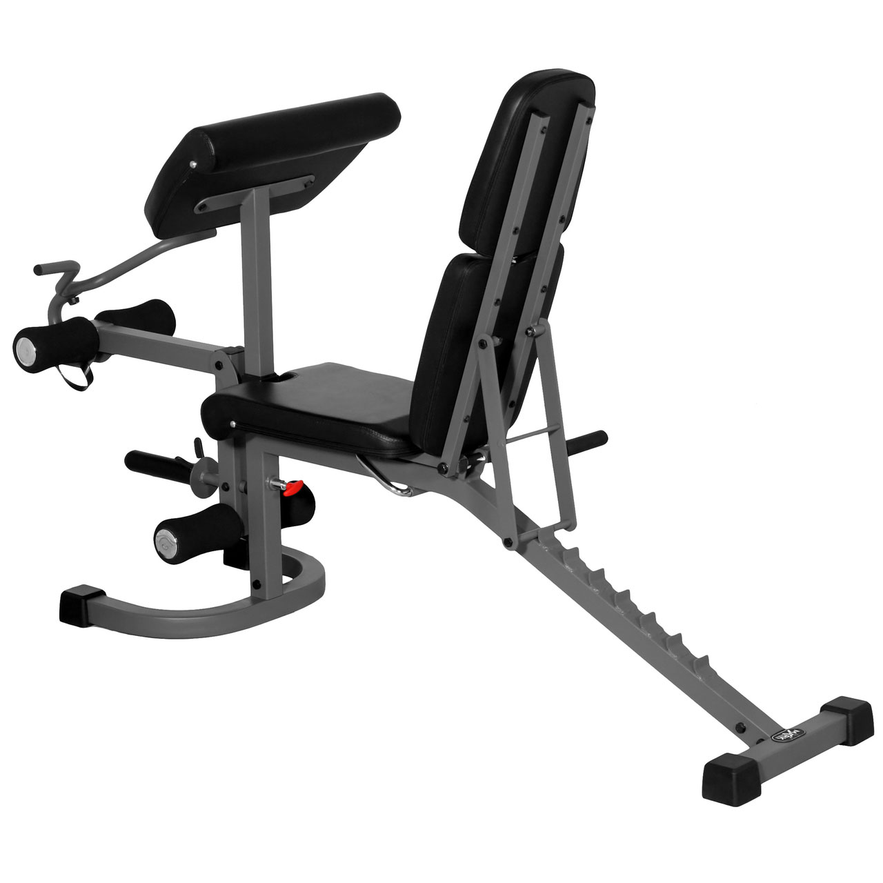 Xmark Fitness Flat Incline Decline Bench With Arm Curl