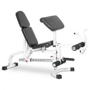 XMark Fitness Flat / Incline / Decline Weight Bench with Leg Extension and Preacher Curl [XM-4419-WHITE]