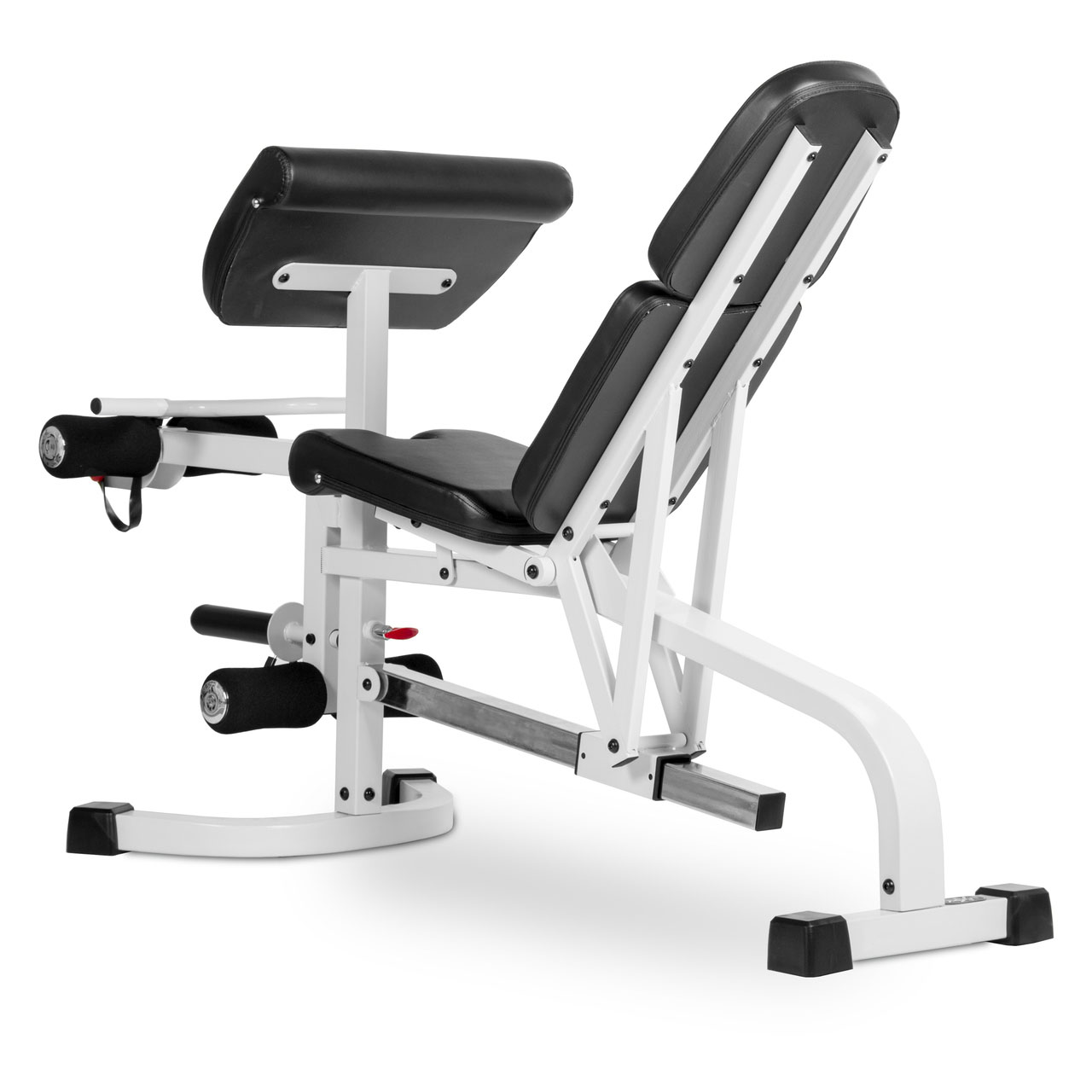 Xmark fitness flat incline decline weight bench with leg extension and preacher curl xm - Weight bench incline decline ...