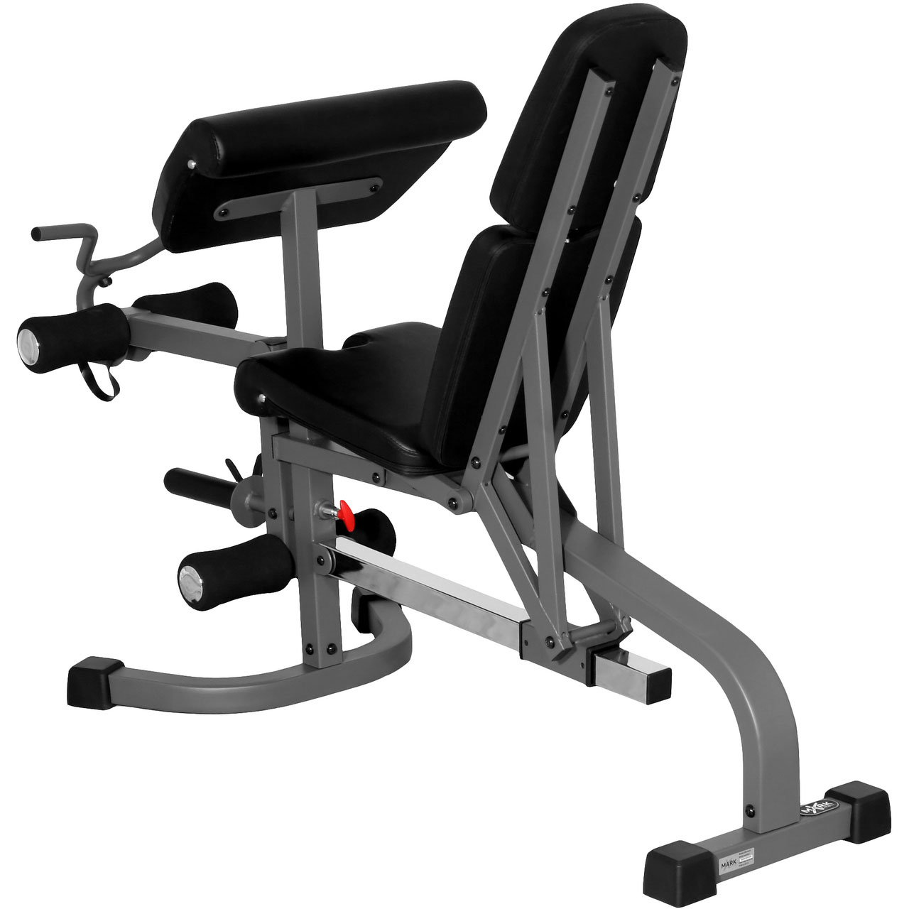 Xmark fitness flat incline decline weight bench with leg extension and preacher curl xm - Incline and decline bench ...