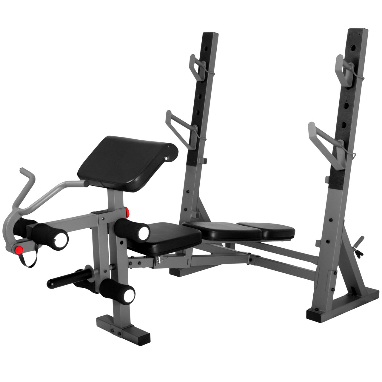 Xmark Fitness International Olympic Weight Bench With Leg And Preacher Curl Attachment Xm 4424