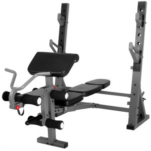 XMark Fitness International Olympic Weight Bench with Leg and Preacher Curl Attachment [XM-4424.1]