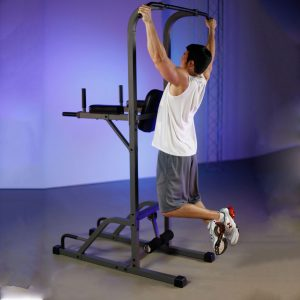 XMark Fitness Vertical Knee Raise with Dip and Pull Up Station Power Tower [XM-4432]