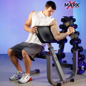 XMark Fitness Seated Preacher Curl Weight Bench [XM-4436]