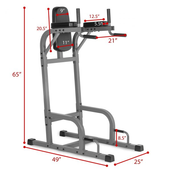 XMark Fitness Vertical Knee Raise with Dip Station [XM-4437.1]