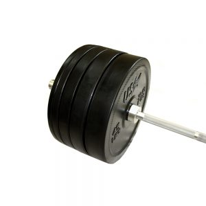 Troy Barbell USA Sports 305 lb. Bumper Plate Set with Bar & Collars [GBOSS-305SBP]